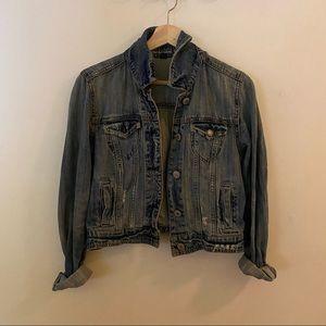 American eagle cropped jean / denim jacket